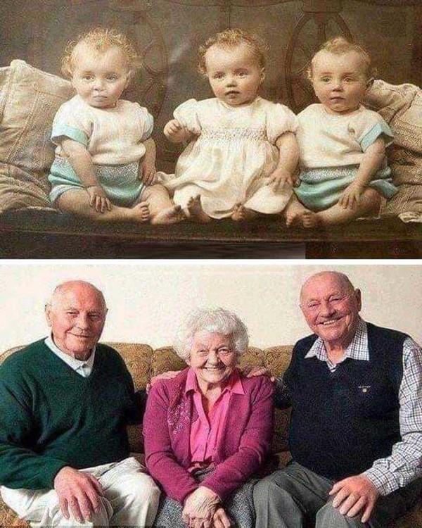 Ces triplés ont 80 ans !