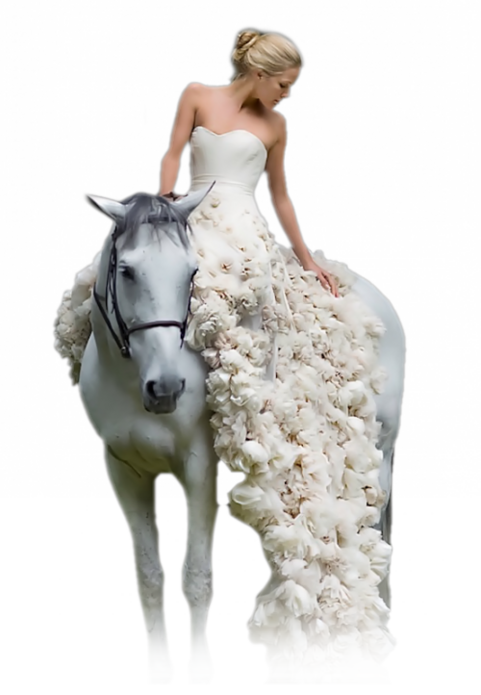 Femme a cheval