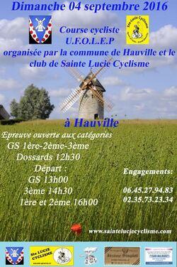 UNE COURSE CYCLISTE à HAUVILLE !