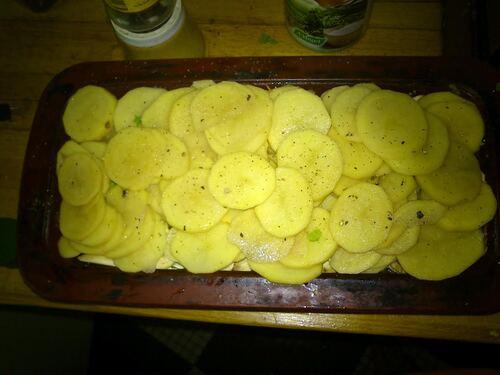 plein de légumes : une terrine pomme de terre champignons