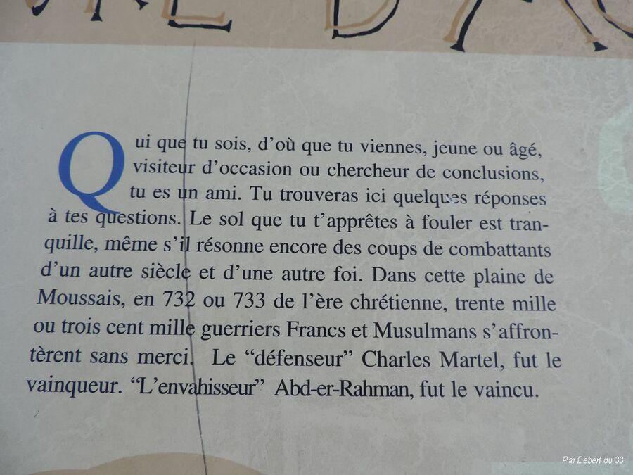 le site de la bataille de Poitiers en 732