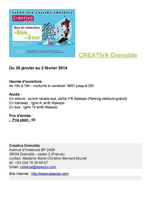 Salon Créatifs à Grenoble