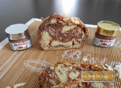 Cake marbré au nutella et philadelphia