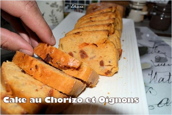 Cake au Chorizo et Oignon