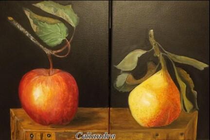Peinture. Après la pomme ....