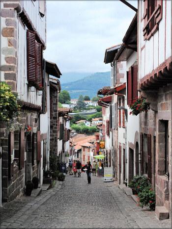 Les rues de Saint Jean pied de Port