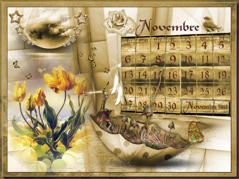 "*** Sujet ""Calendrier novembre"" défis mixtes mensuels Nov. ***"