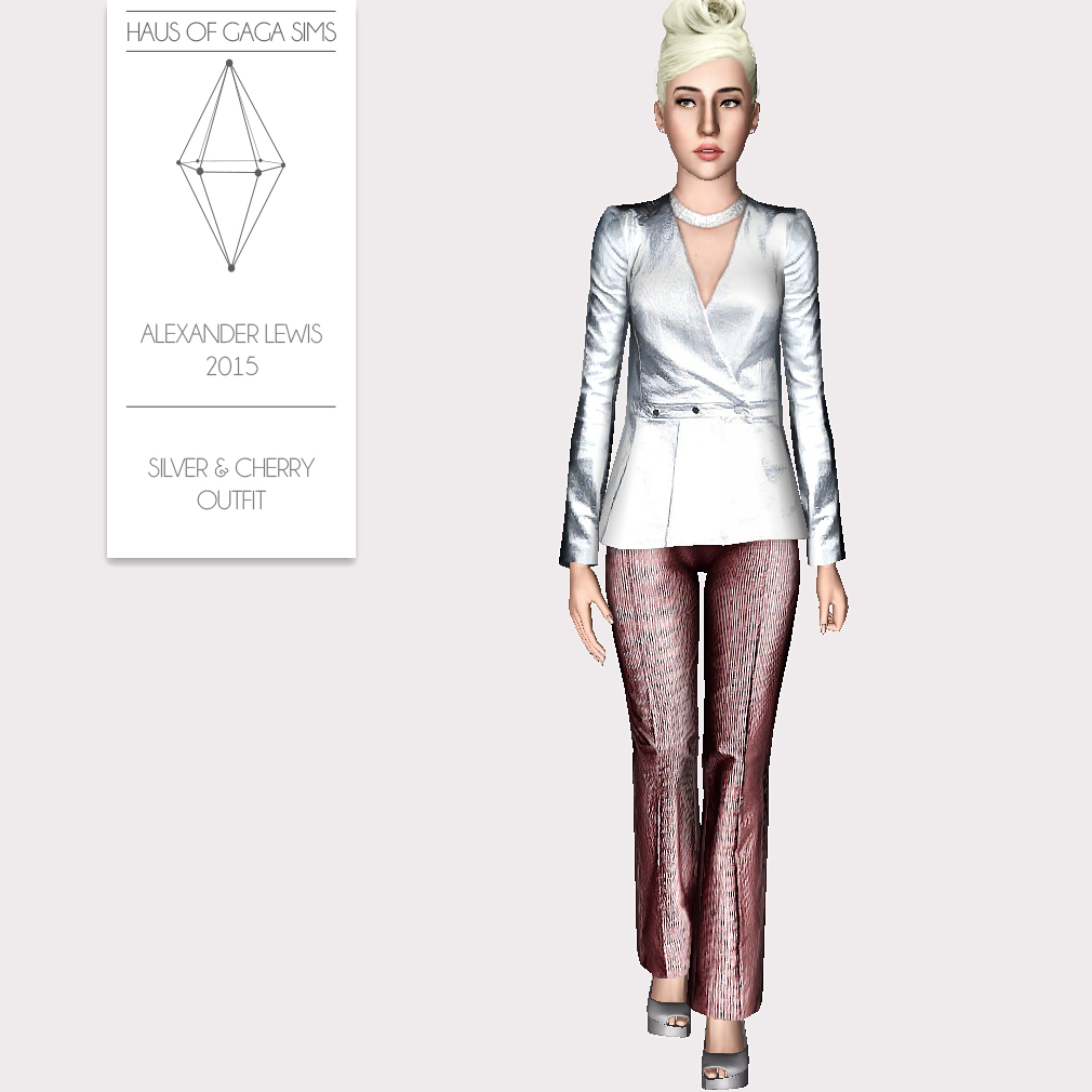 ALEXANDER LEWIS 2015 SILVER & CHERRY OUTFIT