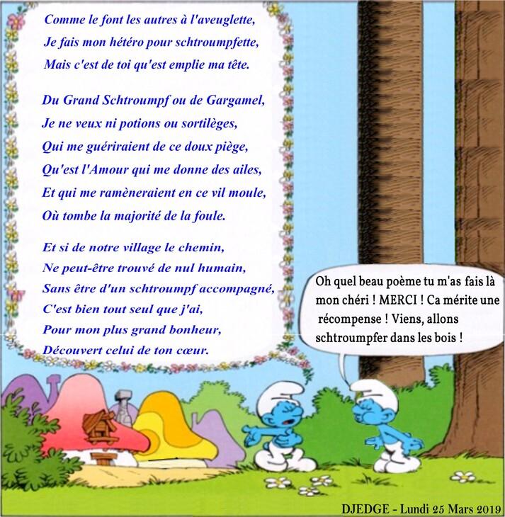 Poème d'Amour Schtroumpf