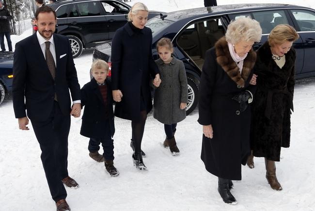 Les norvégiens à la messe