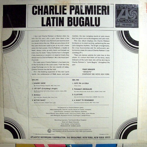 "Charlie Palmieri : Album "" Latin Bugalu "" Atlantic Records SD 8166 [ US ]"