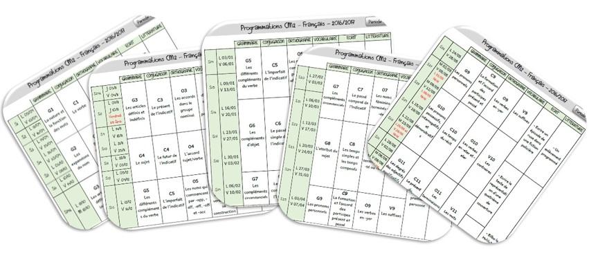 Programmations complètes 2016-2017