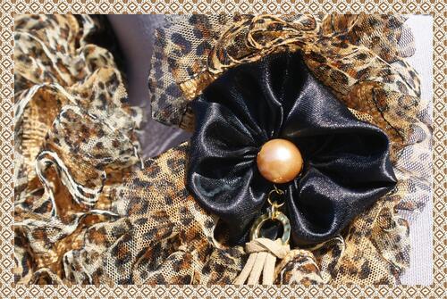 Echarpe papillon léopard