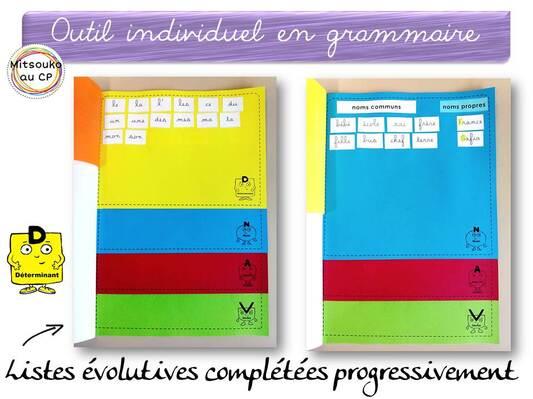 Mes nouveaux outils pour entrer dans la grammaire au CP