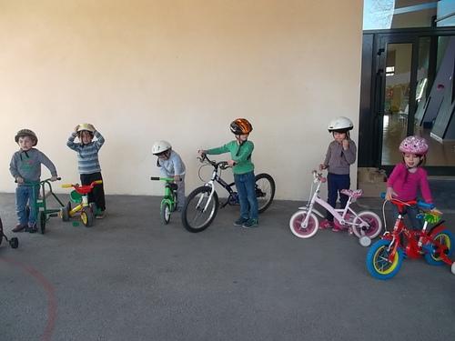 Première séance de vélo