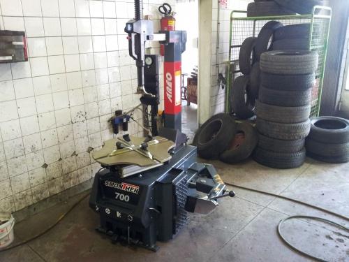 la nouvelle machine a pneu