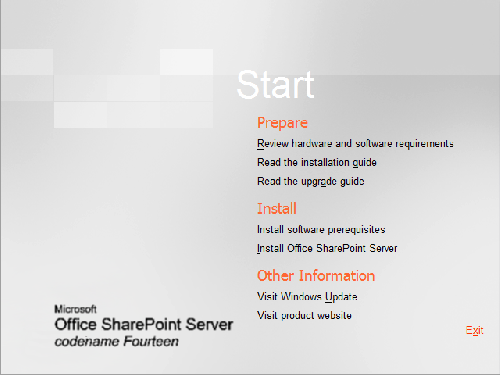Mire installation SharePoint 2010