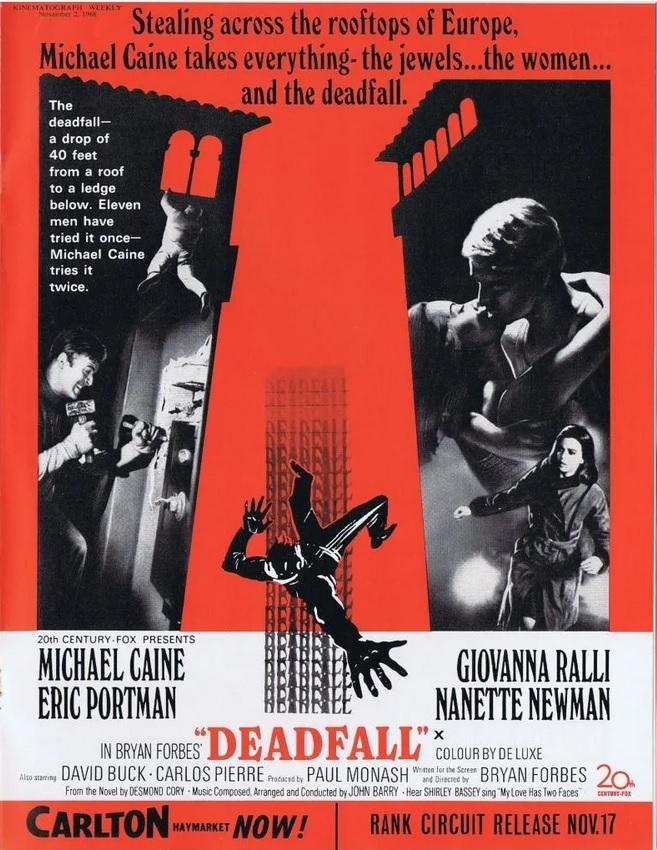 DEADFALL box office USA 1968