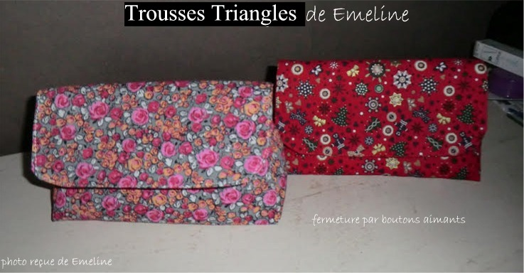 Trousse Triangle : Bravo Emeline, Mireille et Véro