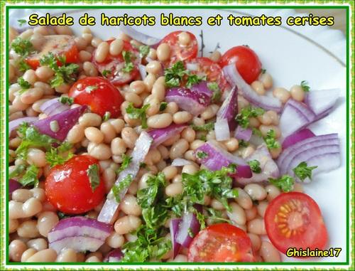 Salade de haricots blancs et tomates cerises