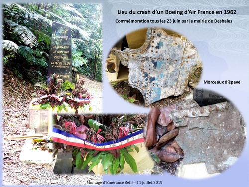 Crash d'un Boeing d'Air France en 1962 sur les hauteurs de Deshaies