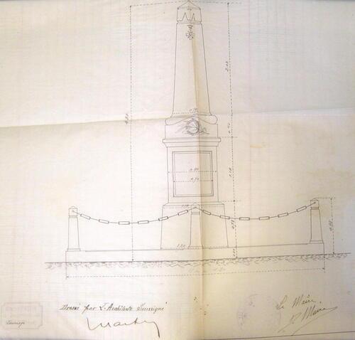 La construction du monument aux morts