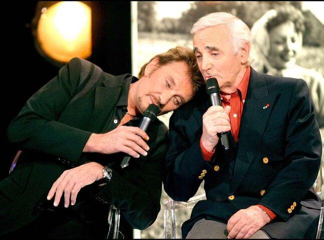 """Résultat de recherche d'images pour """"photos de johnny hallyday et charles aznavour"""""""