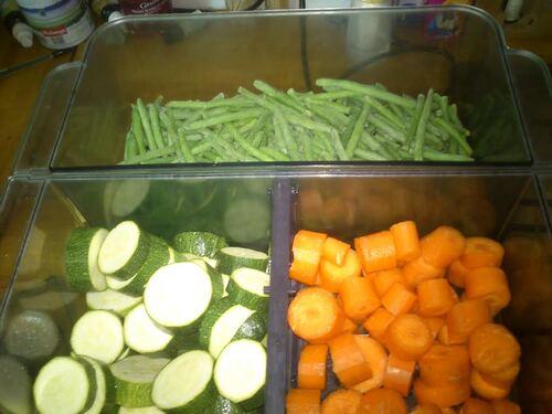 un peu de fraicheur et de verdure...terrine de mousse de légumes à la fêta