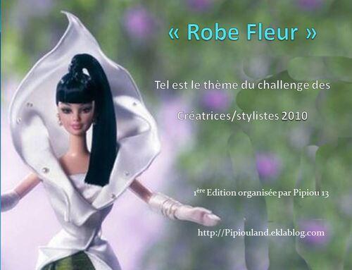 Le défilé des créations -stylistes : Barbie-fleur (2)
