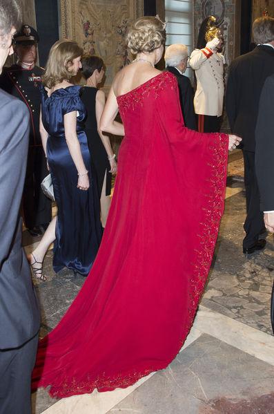 La robe de Maxima en Italie