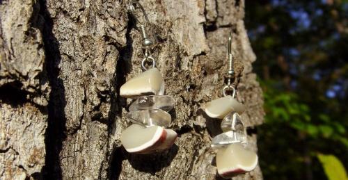 boucles d'oreilles en pierres semi précieuses créées par Sylvie Le Brigant