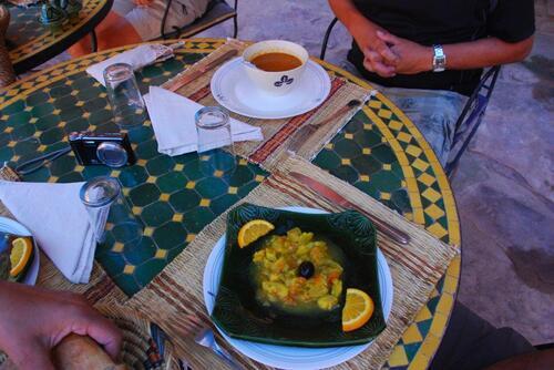 Harira ou salade de courgettes