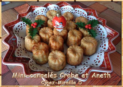 Mini-cannelés Crabe et Aneth