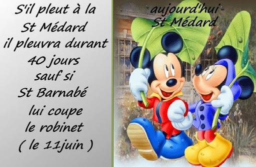 Quand il pleut à la Saint Médard ...