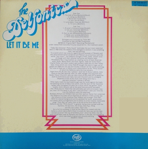 "The Delfonics : Album "" Let It Be Me "" MFP Super Records 1 M 048-96 975 [ GE ]"