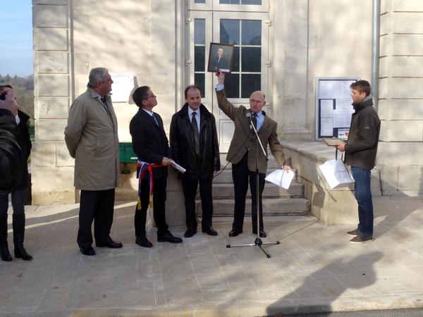 inauguration de la place de la mairie à Buncey