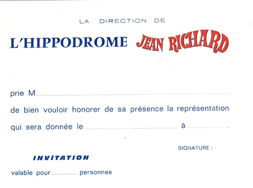le Nouvel Hippodrome de Paris direction Jean Richard