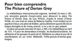 Pré-rencontre avec Dorian Gray