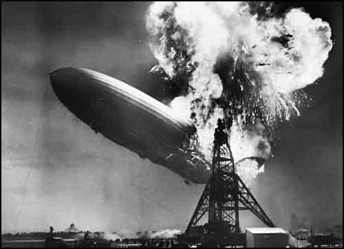 La fin du dirigeable Hindenburg