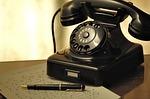 Téléphone, Ligne, Vieux, Arrangement