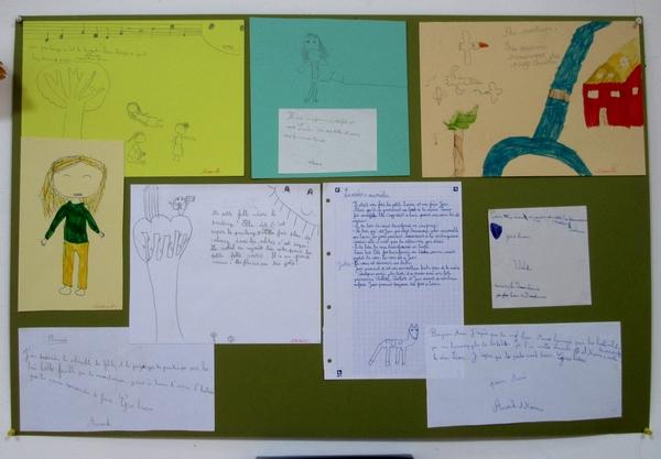 Annie Chazottes a fait travailler artistiquement les enfants de Planay, pendant le confinement....
