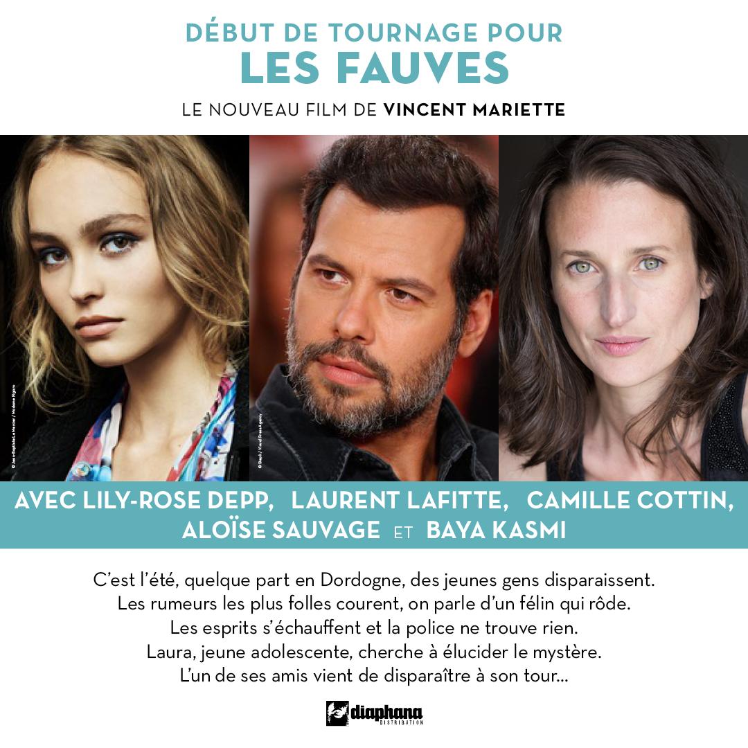 Début de tournage pour le film Les Fauves avec Lily-Rose Depp
