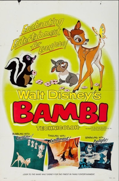 BAMBI REISSUE BOX OFFICE USA 1966