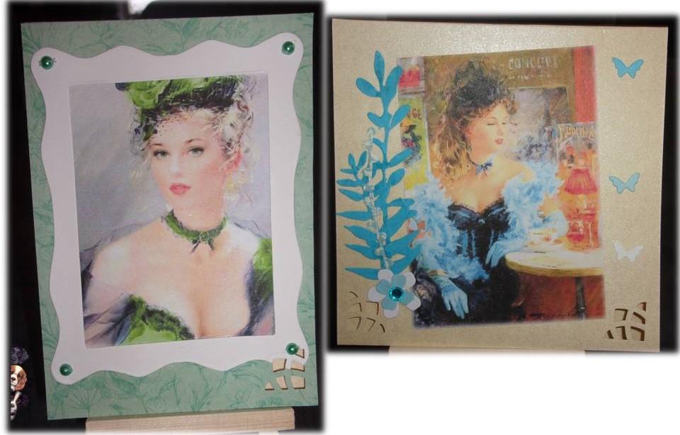 """Cartes scrap """"Elegantes"""""""