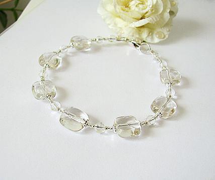 Bracelet Cristal de Roche / Argent 925