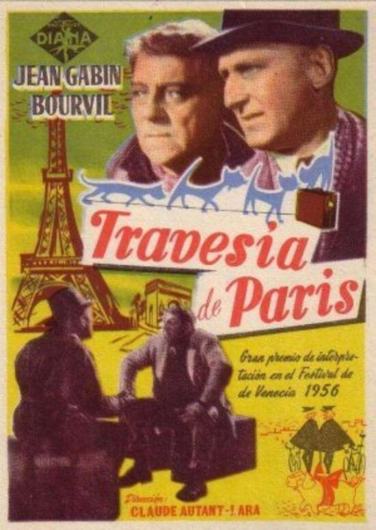 LA TRAVERSEE DE PARIS - BOX OFFICE JEAN GABIN 1956