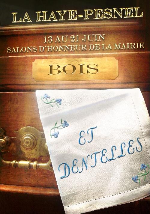 """Exposition """" Bois et Vieilles dentelles """""""