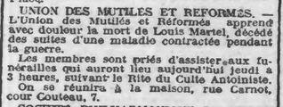 Décès antoiniste à Wattrelos (Roubaix-Tourcoing 13-01-1927 roubaix-bnr.cd-script.fr)
