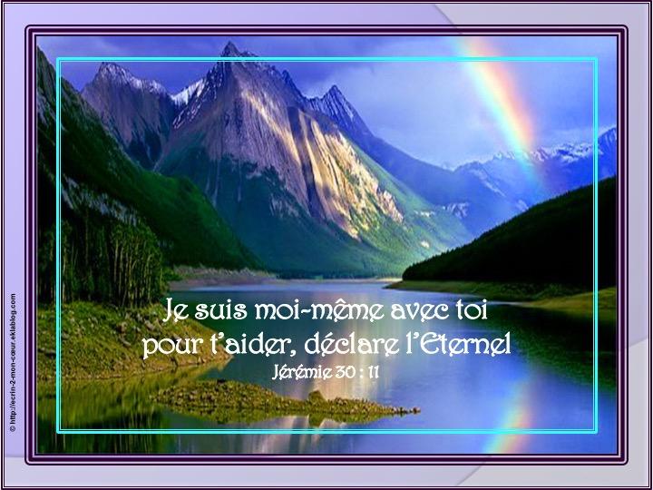 Je suis moi-même avec toi - Jérémie 30 : 11