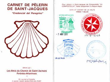 Crédencial ou le Passeport du pèlerin